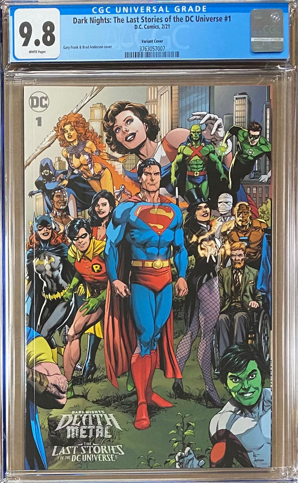 Dark Nights Death Metal: The Last Stories of the DC Universe #1 Retailer Incentive Variant CGC 9.8