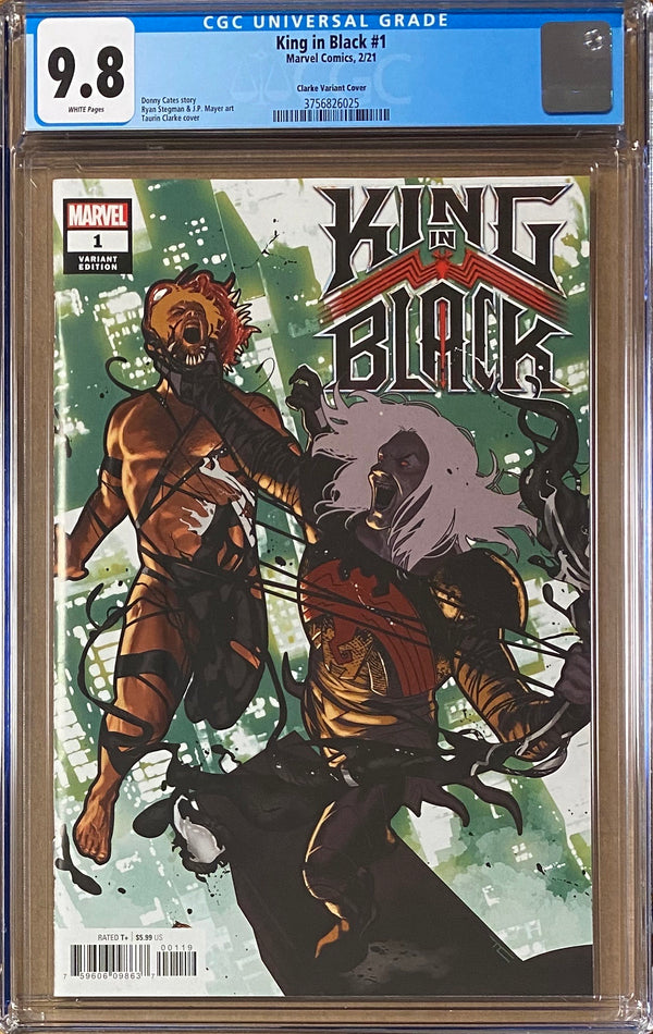 "King in Black #1 Clarke ""Spoiler"" Variant CGC 9.8"