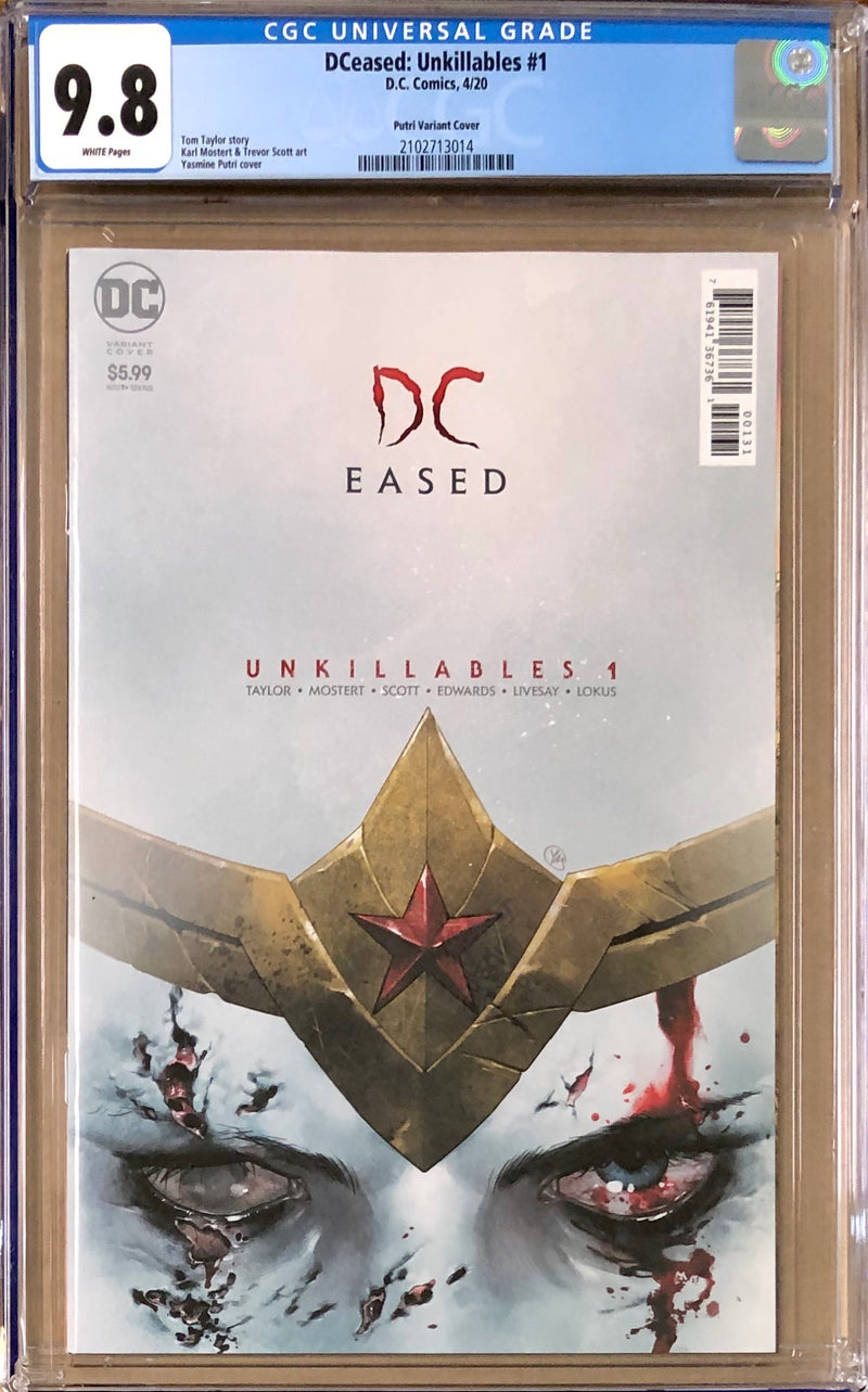 DCeased: Unkillables #1 Putri Horror Poster Variant CGC 9.8