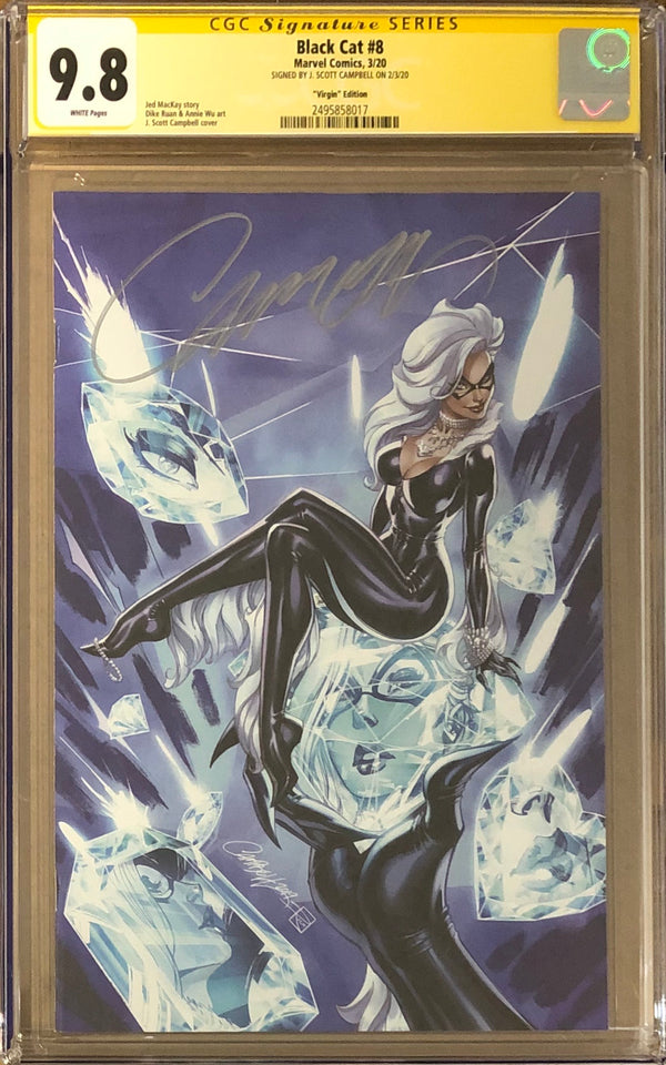 "Black Cat #8 J. Scott Campbell ""Virgin Series"" Exclusive CGC 9.8 SS"