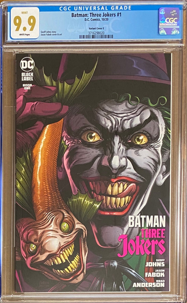 "Batman: Three Jokers #1 ""Joker Fish"" Premium Variant DC Black Label CGC 9.9"