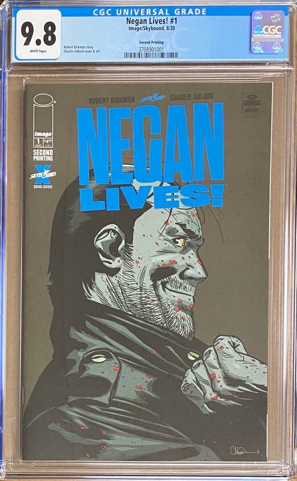 Negan Lives #1 Second Printing CGC 9.8
