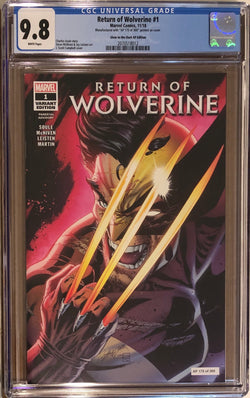 Return of Wolverine #1 J. Scott Campbell Glow in the Dark Artist Proof AP Edition CGC 9.8