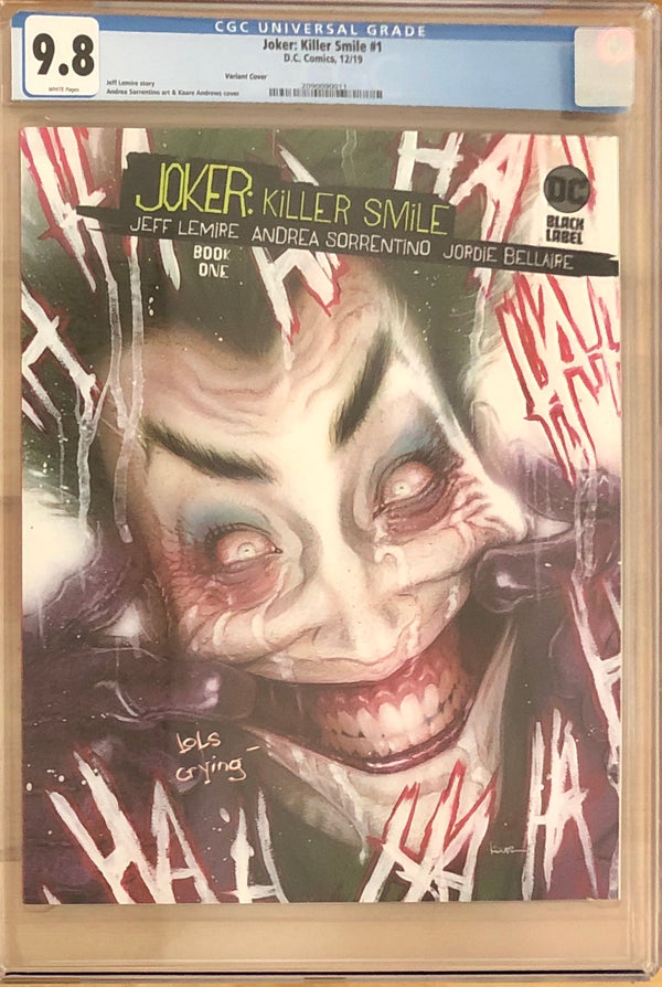 Joker: Killer Smile #1 Variant DC Black Label CGC 9.8