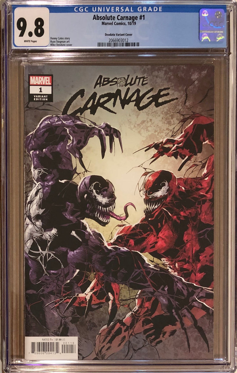 Absolute Carnage #1 Deodato Party Variant CGC 9.8