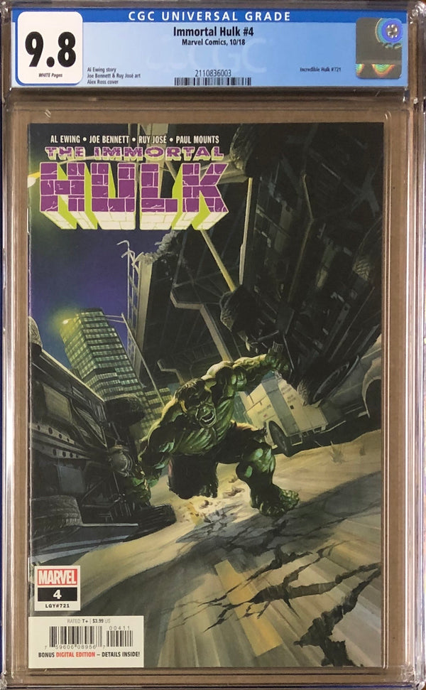 Immortal Hulk #4 CGC 9.8
