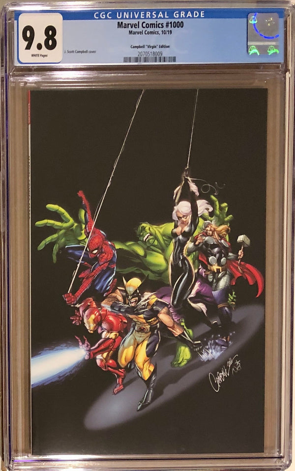 Marvel Comics #1000 J. Scott Campbell 1:200 Virgin Variant CGC 9.8