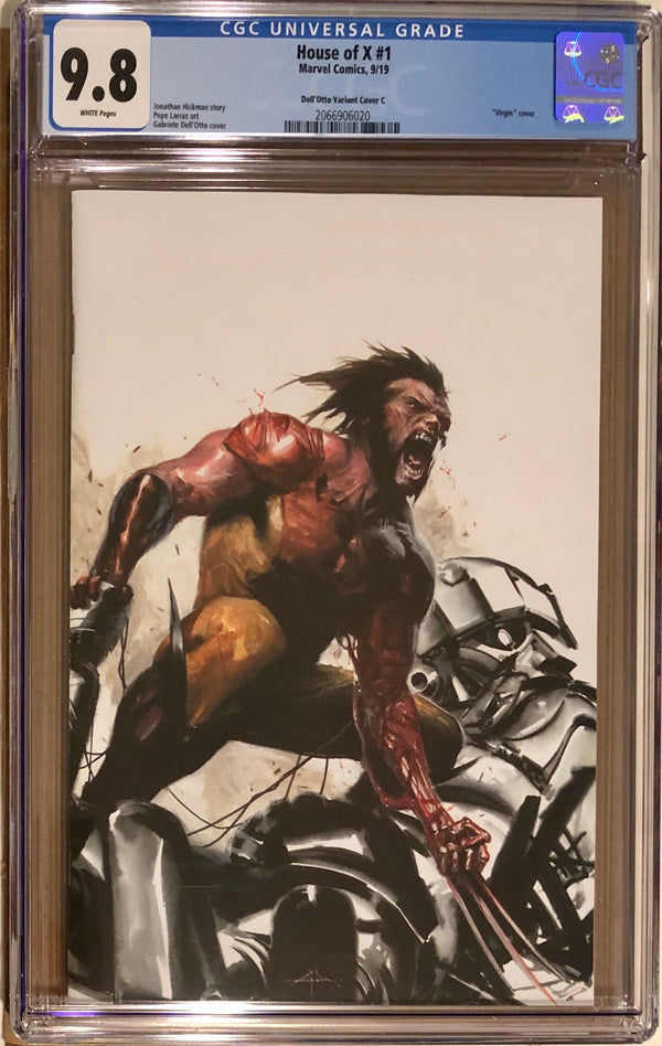 House of X #1 Fan Expo Boston Dell'Otto VIP Virgin Con Exclusive C CGC 9.8