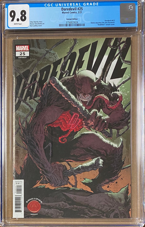 "Daredevil #25 ""Knullified"" Variant CGC 9.8 - First Elektra as Daredevil`"