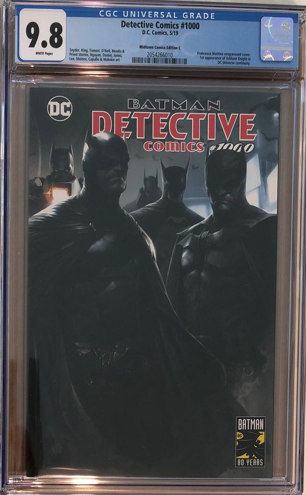 Detective Comics #1000 Franchesco Mattina Wraparound Exclusive CGC 9.8