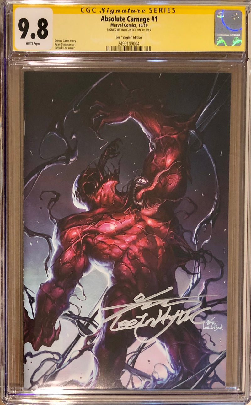 Absolute Carnage #1 InHyuk Lee Fan Expo Boston Virgin Exclusive CGC 9.8 SS