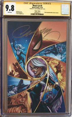 Black Cat #5 J. Scott Campbell BeachBum Comics Virgin Exclusive CGC 9.8 SS