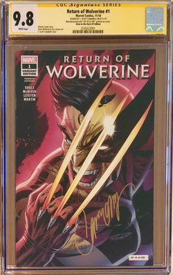Return of Wolverine #1 J. Scott Campbell Glow in the Dark Artist Proof AP Edition CGC 9.8 SS