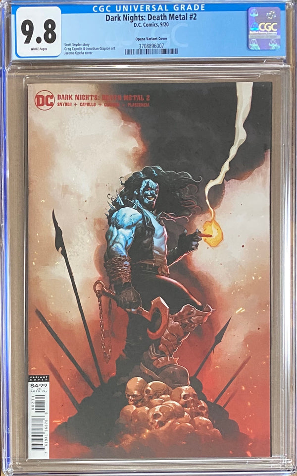 Dark Nights Death Metal #2 Opena Variant CGC 9.8
