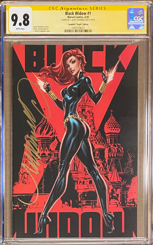 Black Widow #1 J. Scott Campbell 1:500 Virgin Retailer Incentive Variant CGC 9.8 SS
