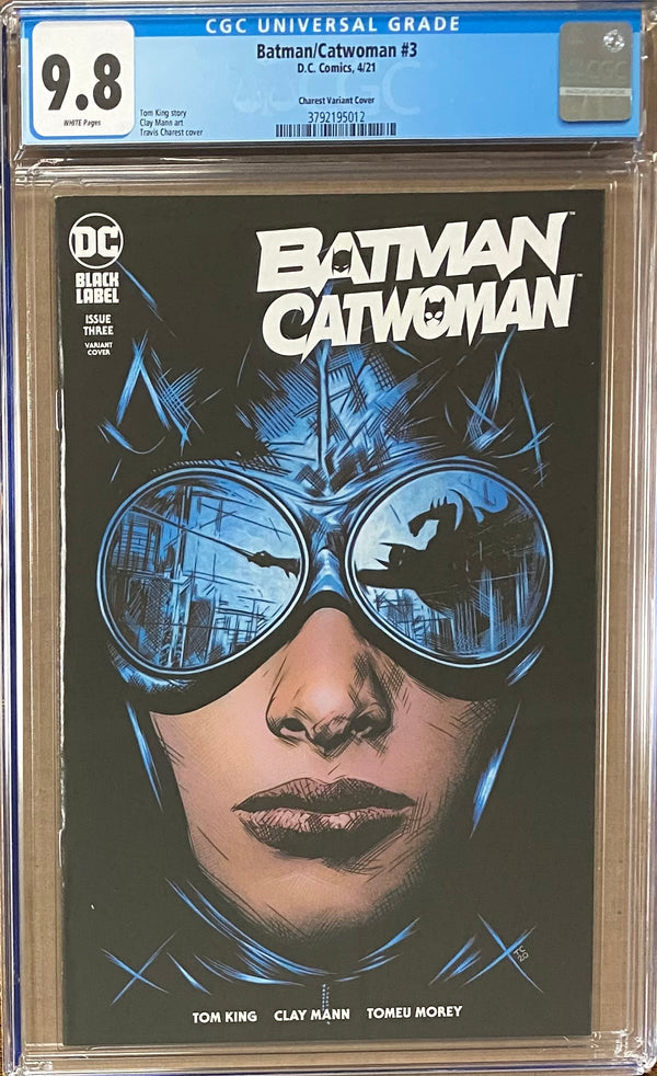 Batman Catwoman #3 Charest Variant DC Black Label CGC 9.8