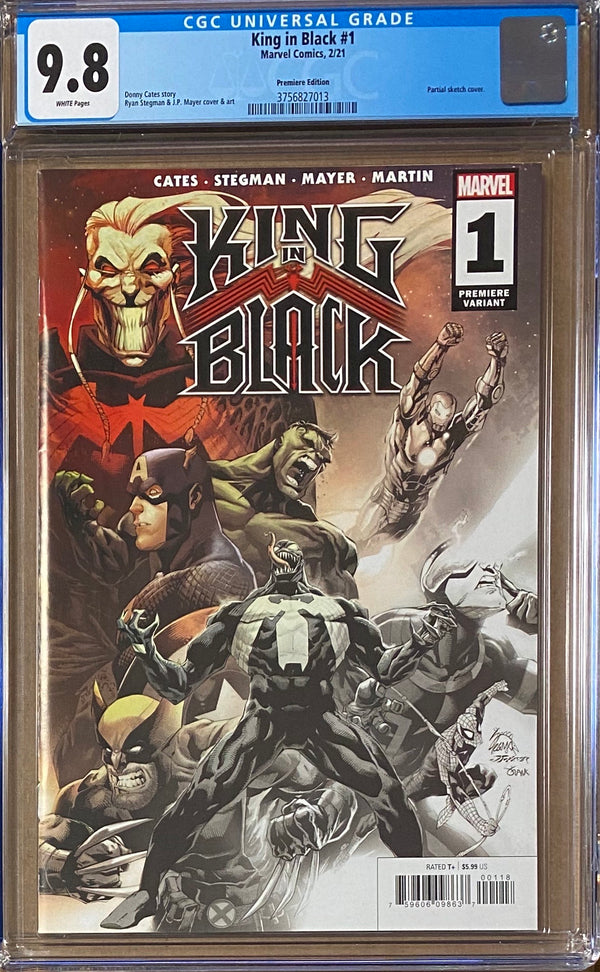 King in Black #1 Premiere Edition Retailer Incentive Variant CGC 9.8