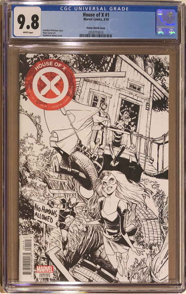 House of X #1 Ramos Party Sketch Variant CGC 9.8