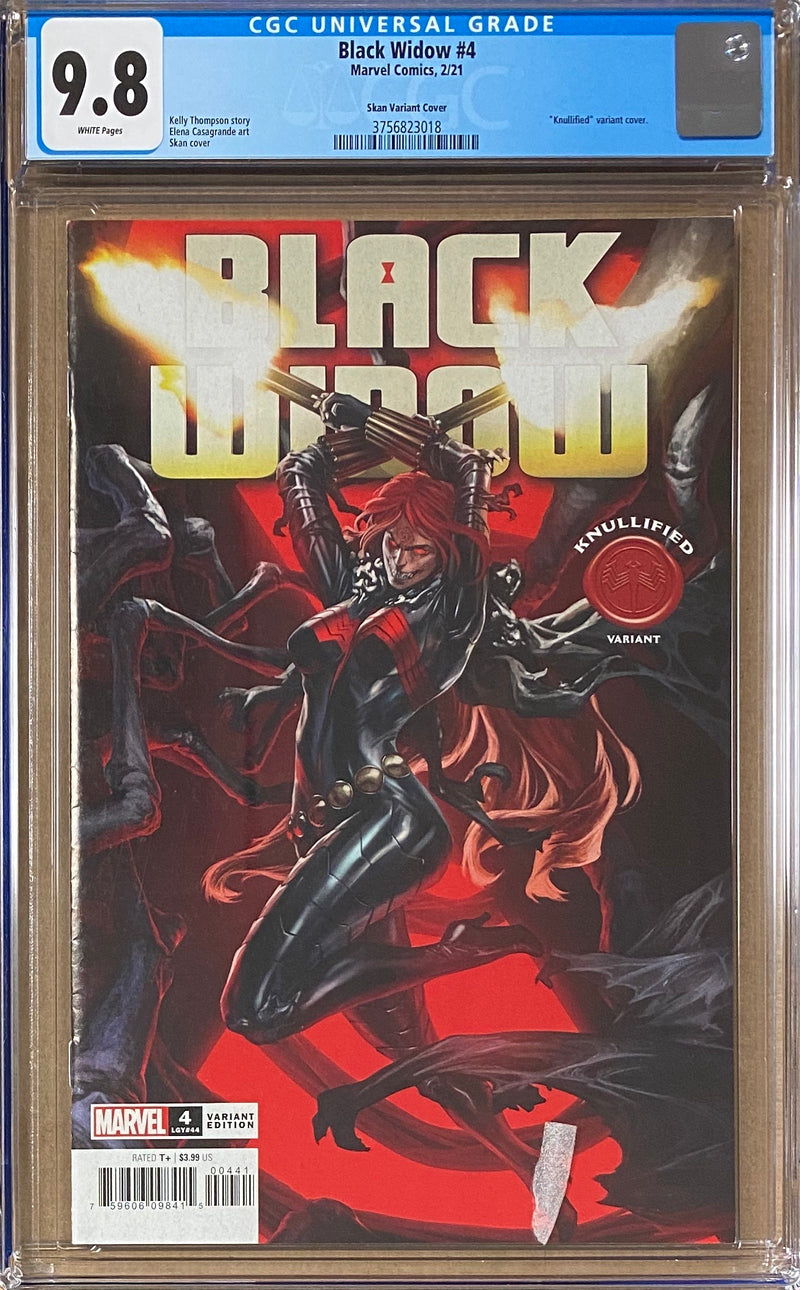 "Black Widow #4 ""Knullified"" Variant CGC 9.8"