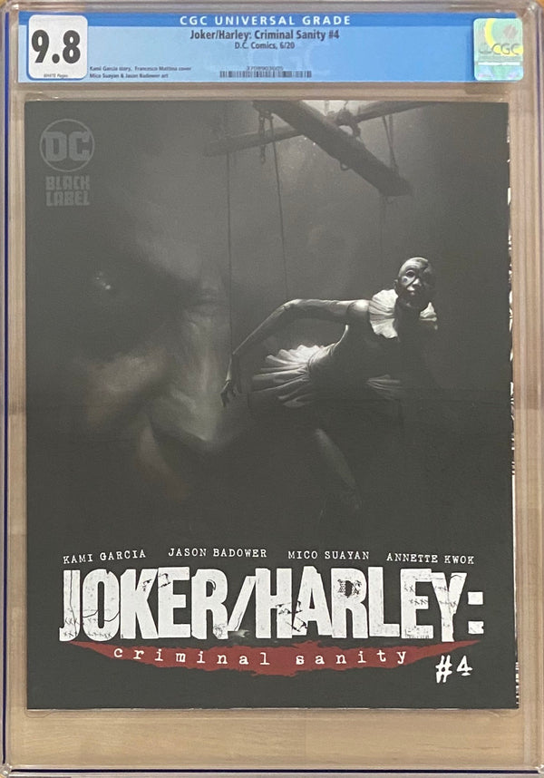 Joker/Harley: Criminal Sanity #4 Mattina Cover DC Black Label CGC 9.8