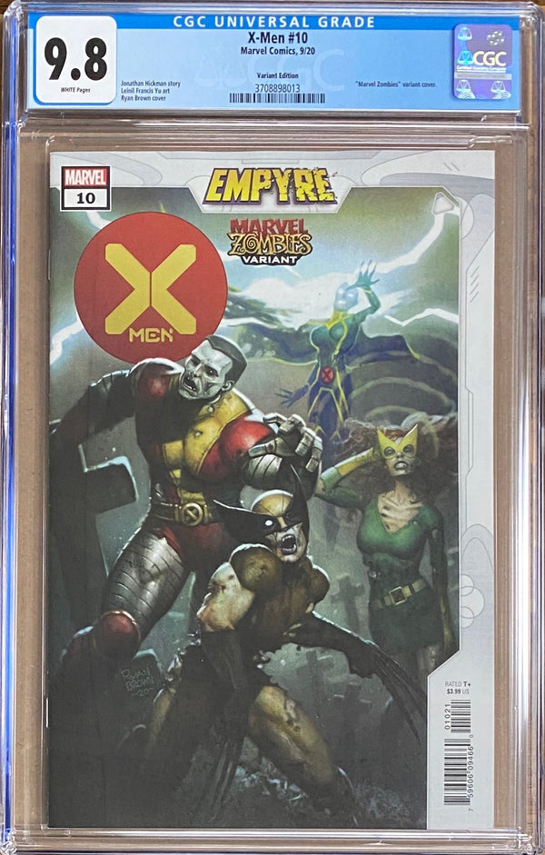 "X-Men #10 ""Zombies"" Variant CGC 9.8 - Empyre"
