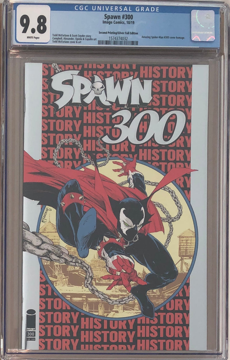 Spawn #300 Todd McFarlane NYCC Silver Foil Variant CGC 9.8