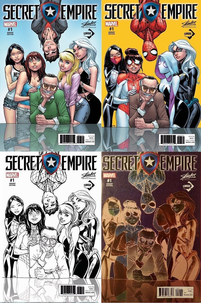Secret Empire #1 Stan Lee Collectibles J. Scott Campbell / Humberto Ramos 4 Cover Exclusive Set