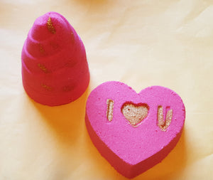Valentine theme bathbomb