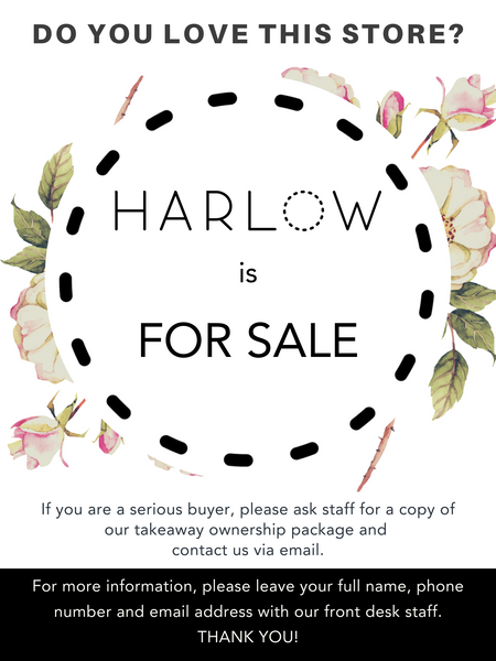 Harlow is for SALE