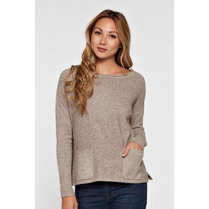 LS Boatneck Honeycomb Sweater-Harlow Crestwood