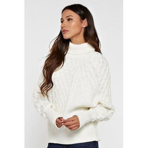 LS Dolman Cable Knit Sweater-Harlow Crestwood