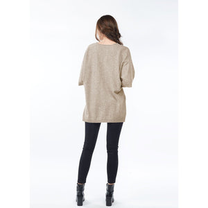 look by m cashmere vneck sweater