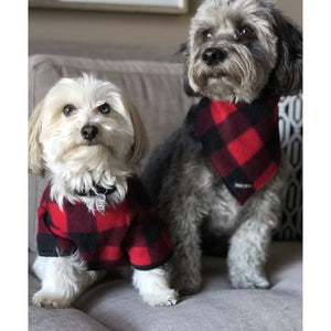 Snug As A Bug - Canada Plaid Pet Snuggle Suit-Harlow Crestwood