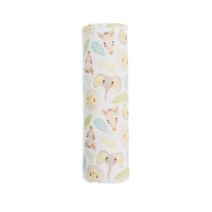 lulujo jungle swaddle blanket