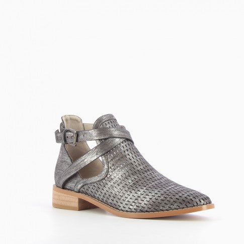 Vanessa Wu Perforated Ankle Boot - Harlow Crestwood
