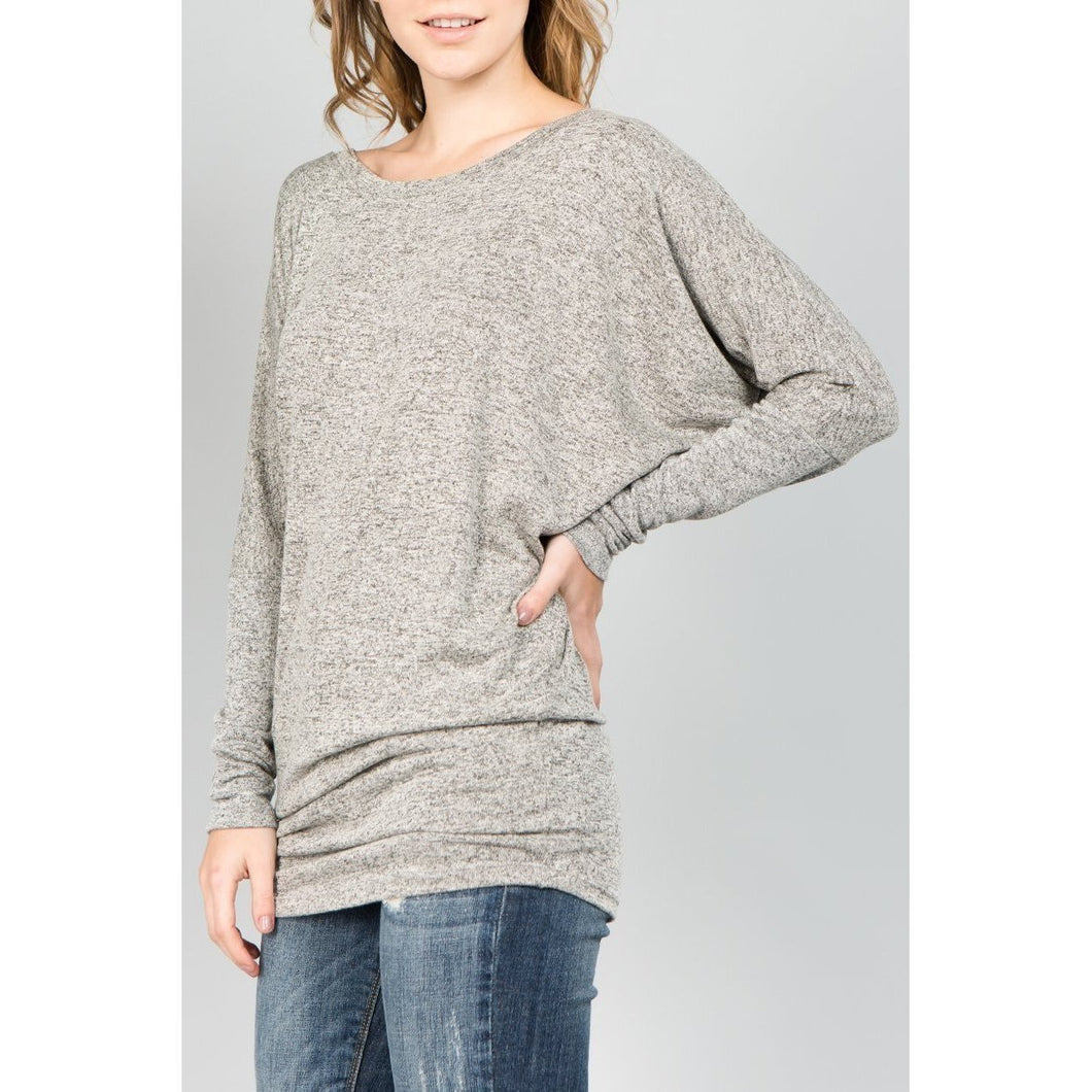 NL Dolman Long Sleeve - Dark Charcoal-Harlow Crestwood