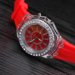 LED Night Light Quartz Watch