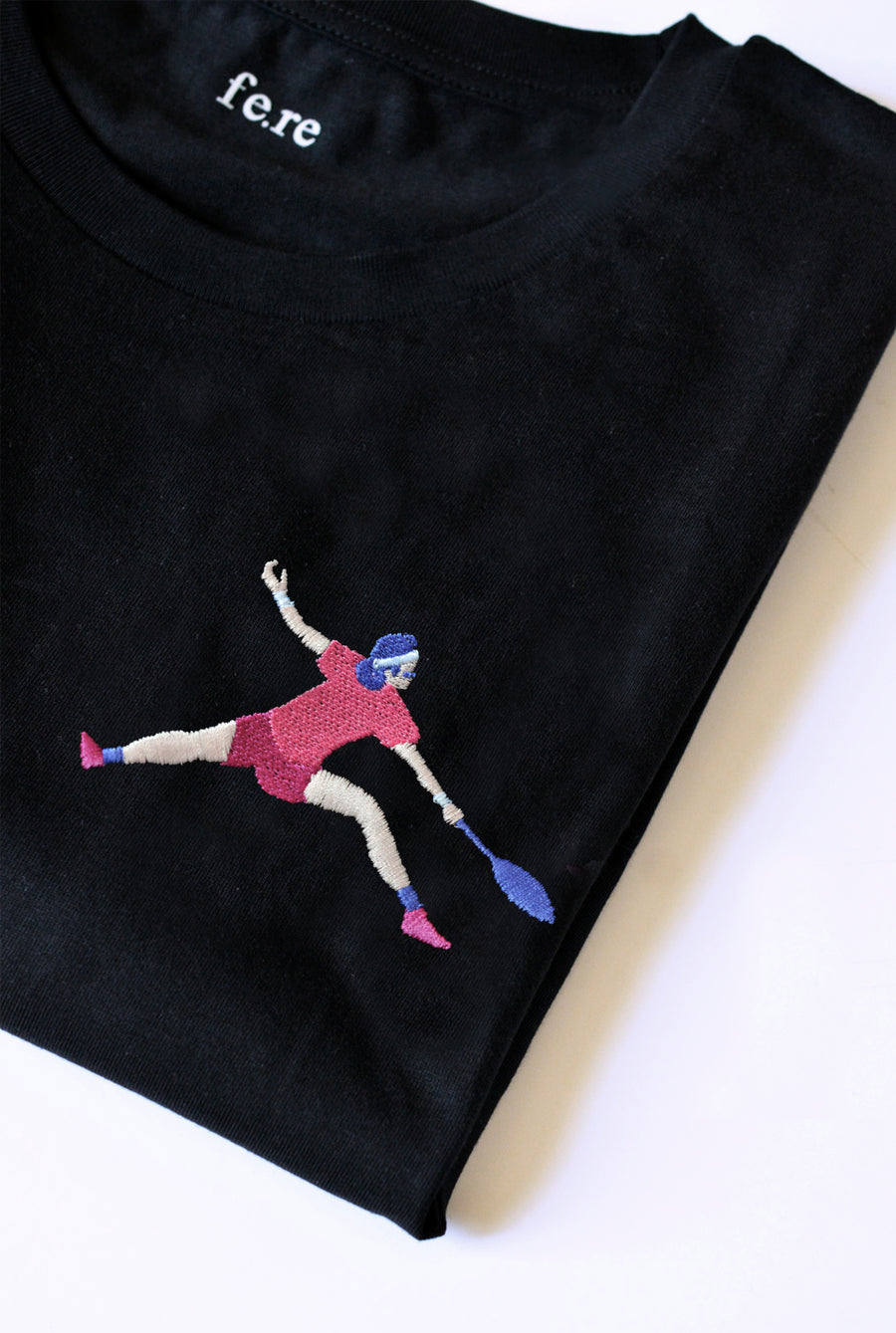 T-shirt broderie - Le tennis, couleurs