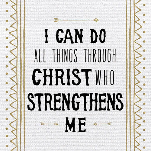 Tabletop Inspirational Plaque: I Can Do All Things Through CHRIST... - Tabletop Decor