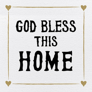 Tabletop Inspirational Plaque: God Bless This Home - Tabletop Decor