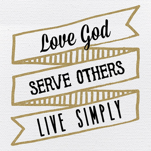 Tabletop Inspirational Plaque: Love, Serve, Live - Tabletop Decor