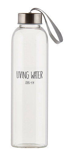 Living Water - Water Bottle w/FREE Water Bottle Cover