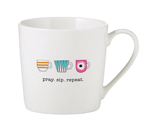 Inspirational Mug - Pray. Sip. Repeat.