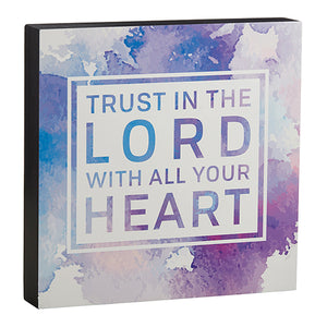 "Wall Decor: ""Trust in the Lord with All Your Heart"" Wall Art"