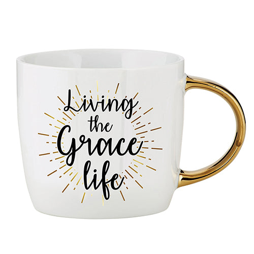 Inspirational Mug - Living The Grace Life Ceramic Mug
