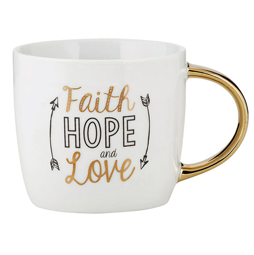Inspirational Mug - Faith Hope and Love Ceramic Mug
