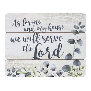 "Wall Decor: ""As for me and my house, we will serve the Lord"" Wall Art"