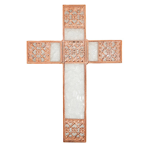 Wall Cross - Decorative Rose Gold Wall Cross - Home Decor
