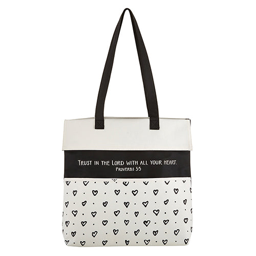 Inspirational Tote Bag: Trust In The Lord With All Your Heart - Proverbs 3:5