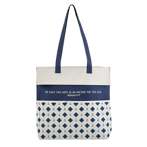 Inspirational Tote Bag: We Have This Hope As An Anchor For The Soul - Hebrews 6:19